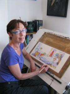 Jane Delaford Taylor painting final illustration for Whoa! Joe
