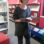 Jane Delaford Taylor in Barnstaple Children's Library. Photo Eileen Meara