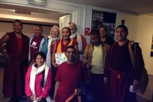 TASHI LHUNPO MONKS with Rosie Godfrey, Ian Godfrey, Shelok & Dawa Tsering and of course, ,  Whoa! Joe...