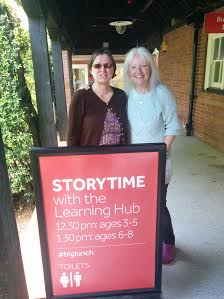 Karen Goulding, Director of The Learning Hub and Rosie Godfrey - Dream Team for Storytime at The Hub!